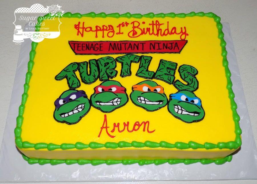 Pin by Heather Hitchcock on Brantley cakes | Ninja turtle ...