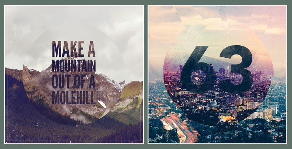 Постер и обложка альбома в стиле ретро *   Уроки Photoshop ...