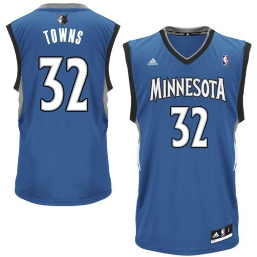 new style 2d52b 9e6a6 adidas Karl-Anthony Towns Minnesota Timberwolves Blue NBA ...