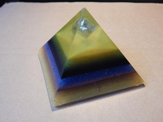 Green Fluorite Bionite-Orgone™ Pyramid, EMF Protection