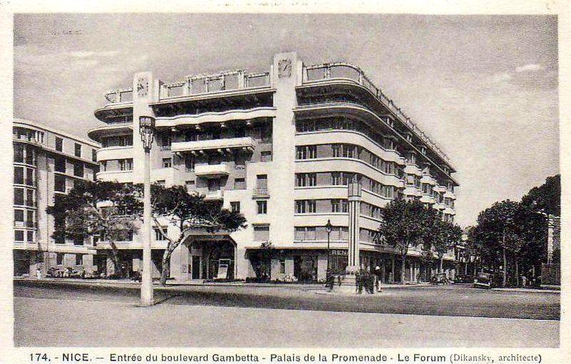 Le Forum Nice Architect Georges Dikansky 1932 Adresse 45 47 Promenade Des Anglais Nice Architecture Contemporaine Edifice Promenade Des Anglais