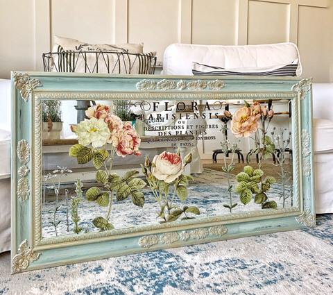 Painted Jewelry Armoire With Mirror