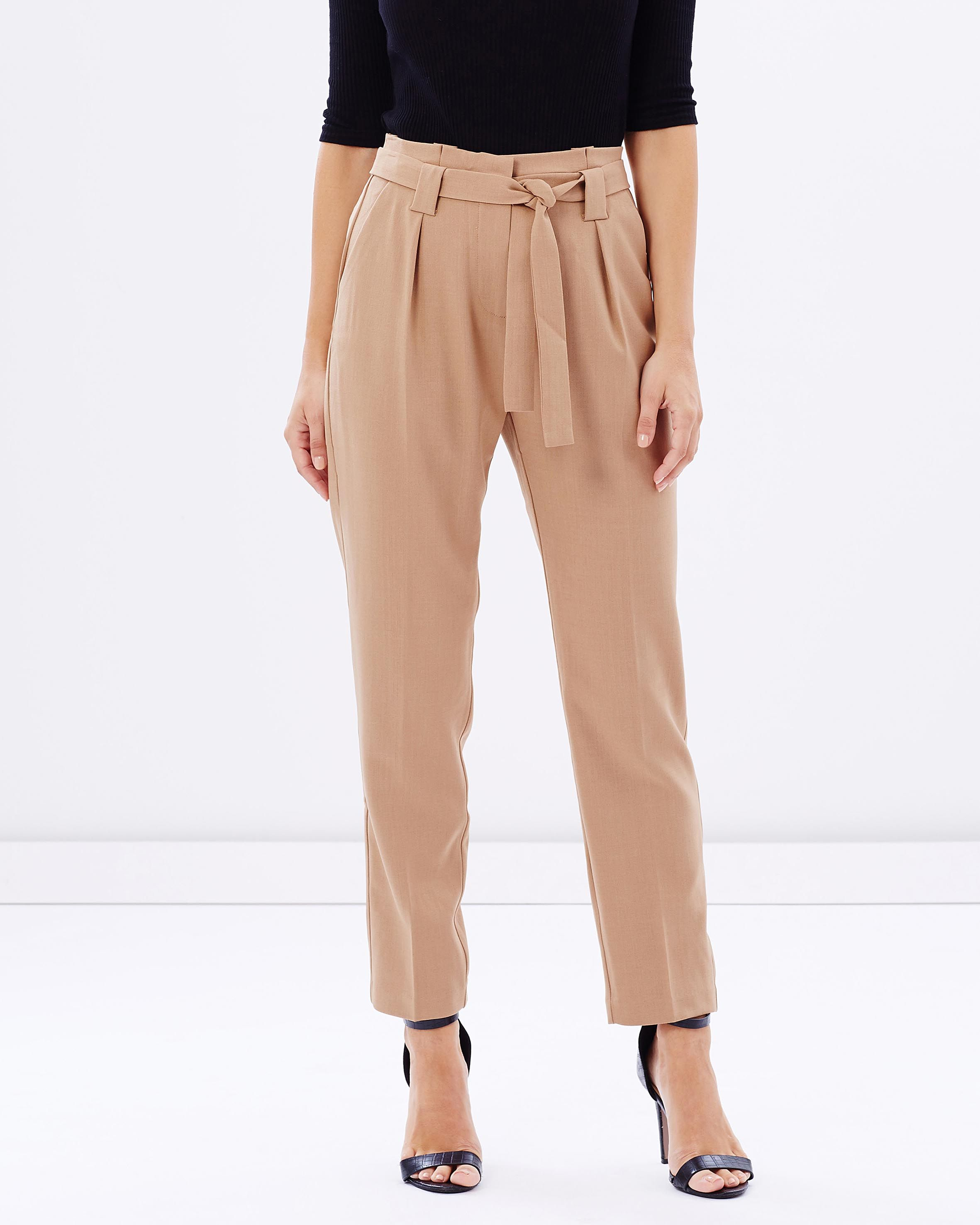 Bronwyn Paper Bag Waist Pants by Forcast Online   THE ICONIC ...