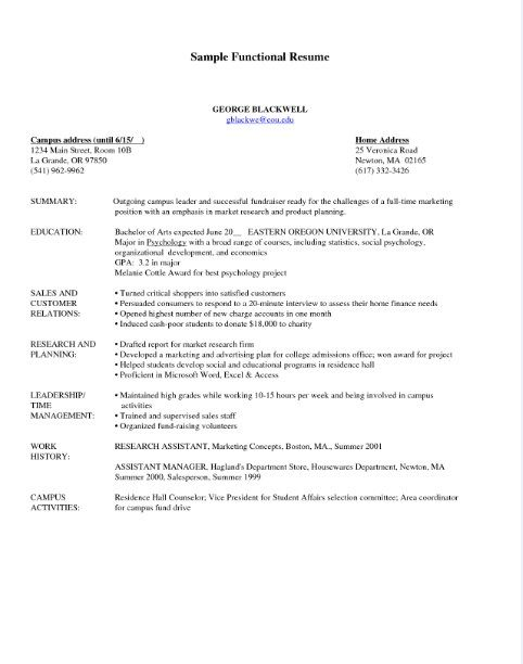 Pin by Job Resume on Job Resume Samples  Functional