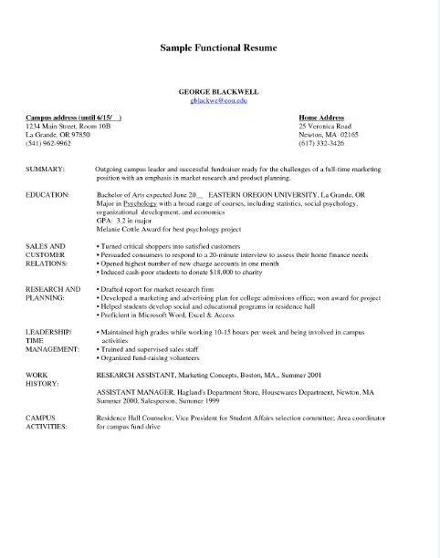 view sample functional resume httpjobresumesamplecom1946view