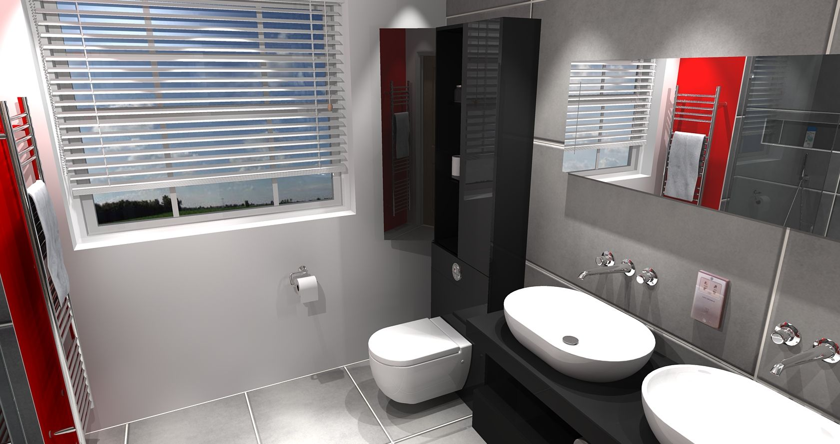 Master Ensuite Design With Ambiance Bain Furniture Double Bowls Stunning Virtual Bathroom Design Design Ideas