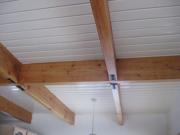 Wood Rafter White Tongue Groove Ceiling Google Search