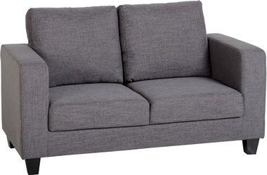 Tempo Two Seater Sofa In A Box In Grey Fabric Love Seat Grey Fabric Sofa Seater Sofa