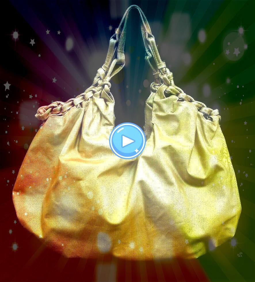 Gold Shinny Hobo Handbag Purse Braid Trim 22 Wide x 11 Height WomensCato Gold Shinny Hobo Handbag Purse Braid Trim 22 Wide x 11 Height Womens Piazza Purse Handbag Womens...