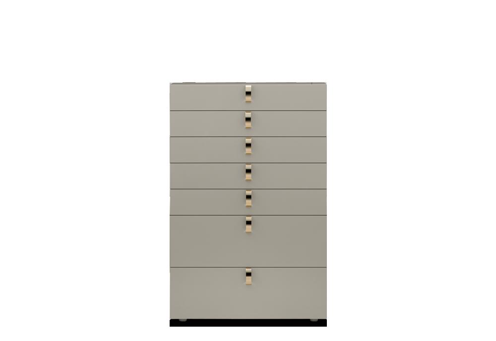 """Splendor"" Tallboy by Flou. Design by Rodolfo Dordoni. Cream lacquer finish. Dipped Gold or Black Nickel handles available. #livingroom #bedroom #HomeDecor #BedroomDecor #BedroomFurniture #Furniture #interiordesign #cassettiera #settimino"