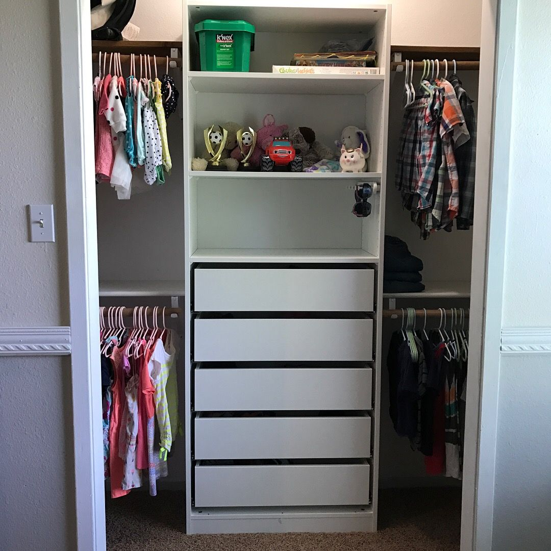 Ikea Wardrobe Tidy Ikea Pax Closet In Our Kids Room Closets In 2019 Ikea