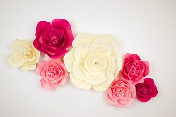 Diy Flower Kit Large Medium Or Small Paper Flower Large Paper