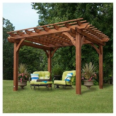 Backyard Discovery 10 X 12 Cedar Pergola Bronze Backyard
