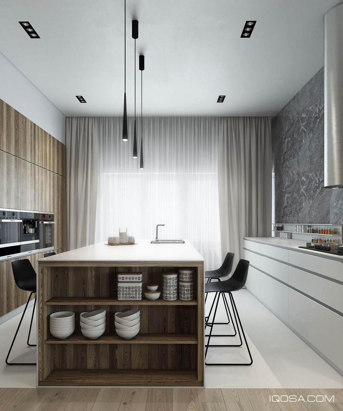 Kitchen Room Interior Design: 4 Sleek Interiors Where Wood Takes Center Stage