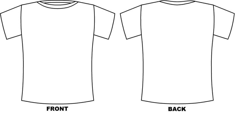 Tshirt 2btemplate Jpg 1000 478 T Shirt Design Template Shirt Template Coloring Pages