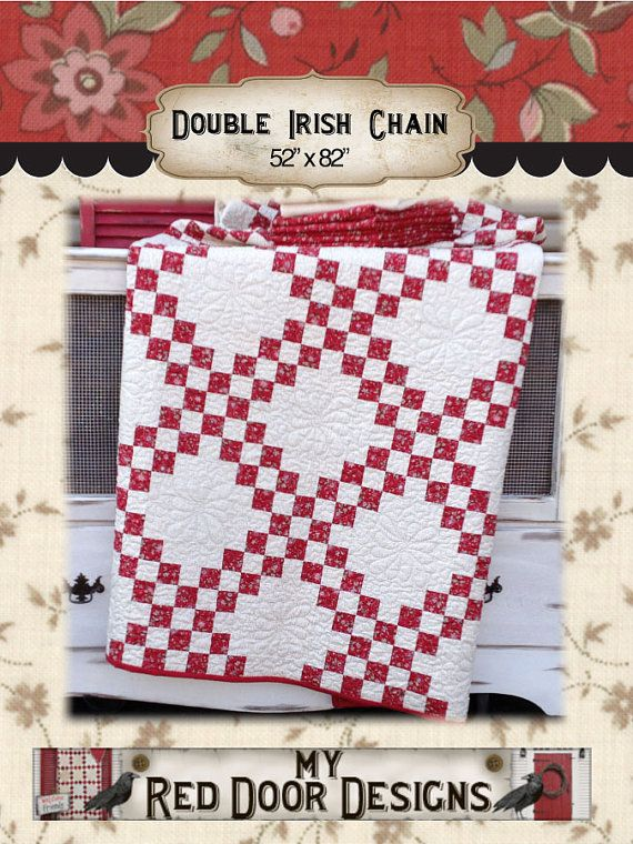 This Is A Pdf Quilt Pattern That Will Be Available As A Instant Download As Soon As Paymen Double Irish Chain Quilt Irish Chain Quilt Irish Chain Quilt Pattern