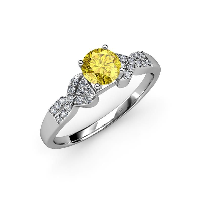 Show Your Love And Devotion With This 1 00 Ct Tw Engagement Ring Yellow Shire Mounted
