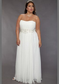 Rez longueur robe de mari e en mousseline de soie plus la for Plus la taille robe de mariage illusion