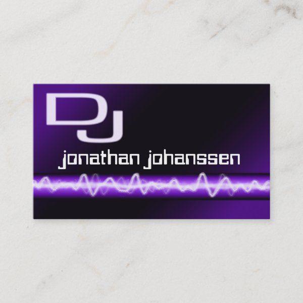 Modern Electric Professional DJ Business Card