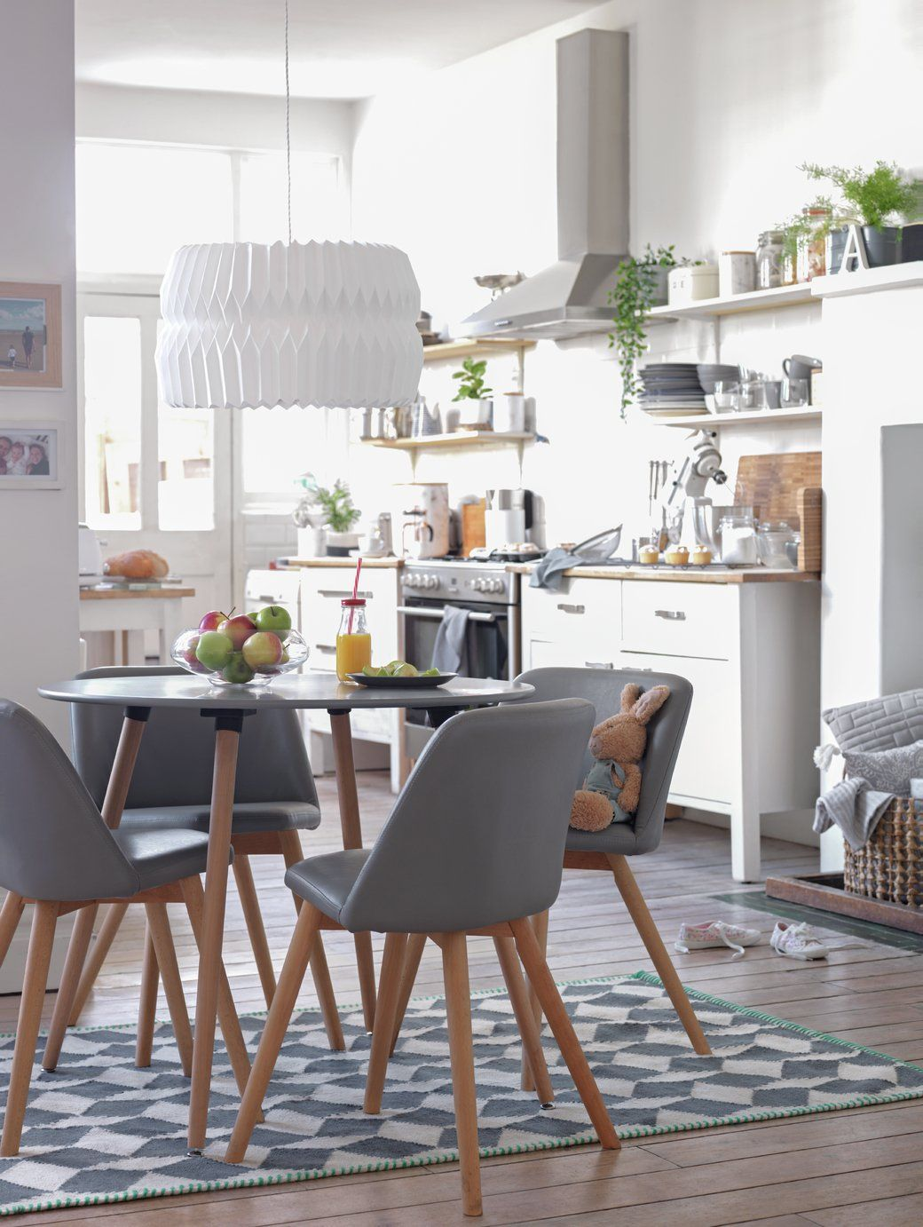 Buy Argos Home Quattro Grey Dining Table 4 Grey Chairs Space