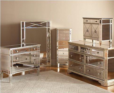 Marais Bedroom Furniture Sets Pieces, Mirrored Furniture Set