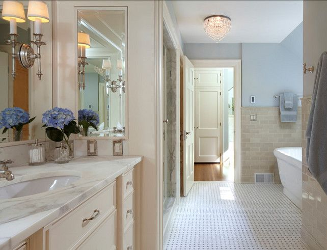 Bathroom Ideas Cream bathroom ideas. bathroom with cream white cabinets and blue paint
