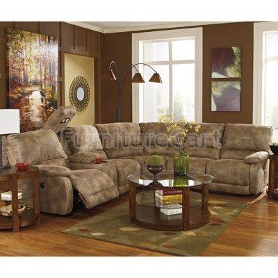 Interlace Brownstone Modular Reclining Sectional W Power Reclining Sectional Furniture Sectional