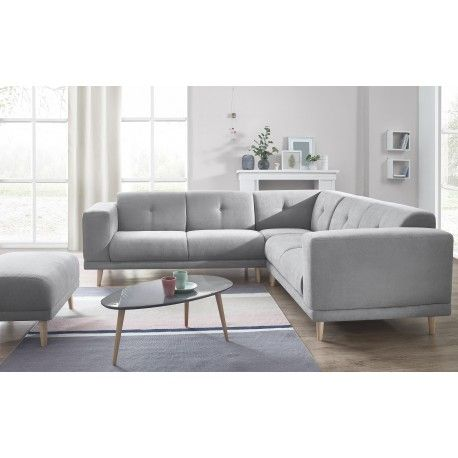 Canapé panoramique LUNA avec pouf méridienne bobochic x tendencio - salon d angle de jardin