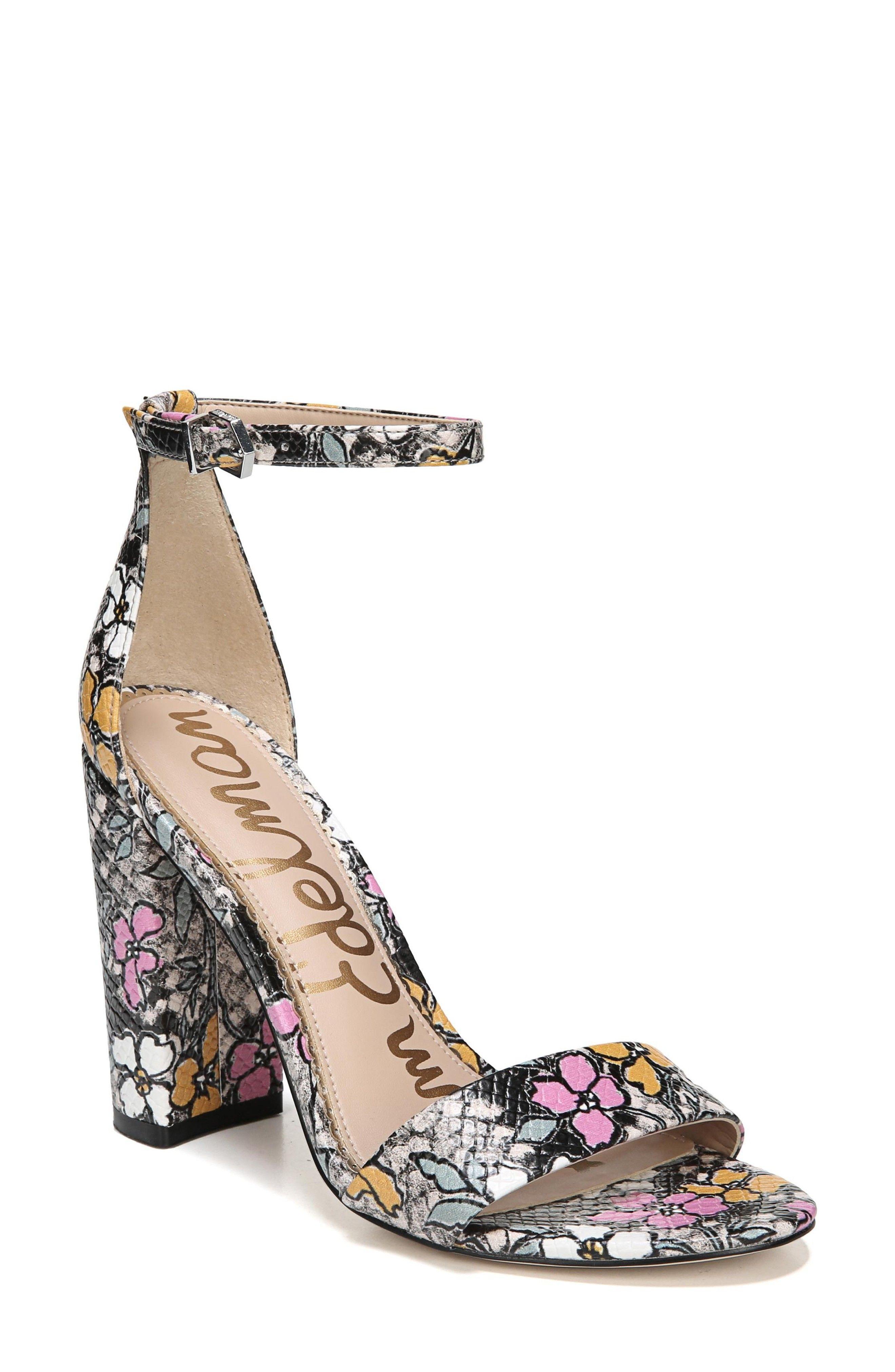 Yaro Ankle Strap Sandal - Sam Edelman #floral #heels #sandals #affiliatelink