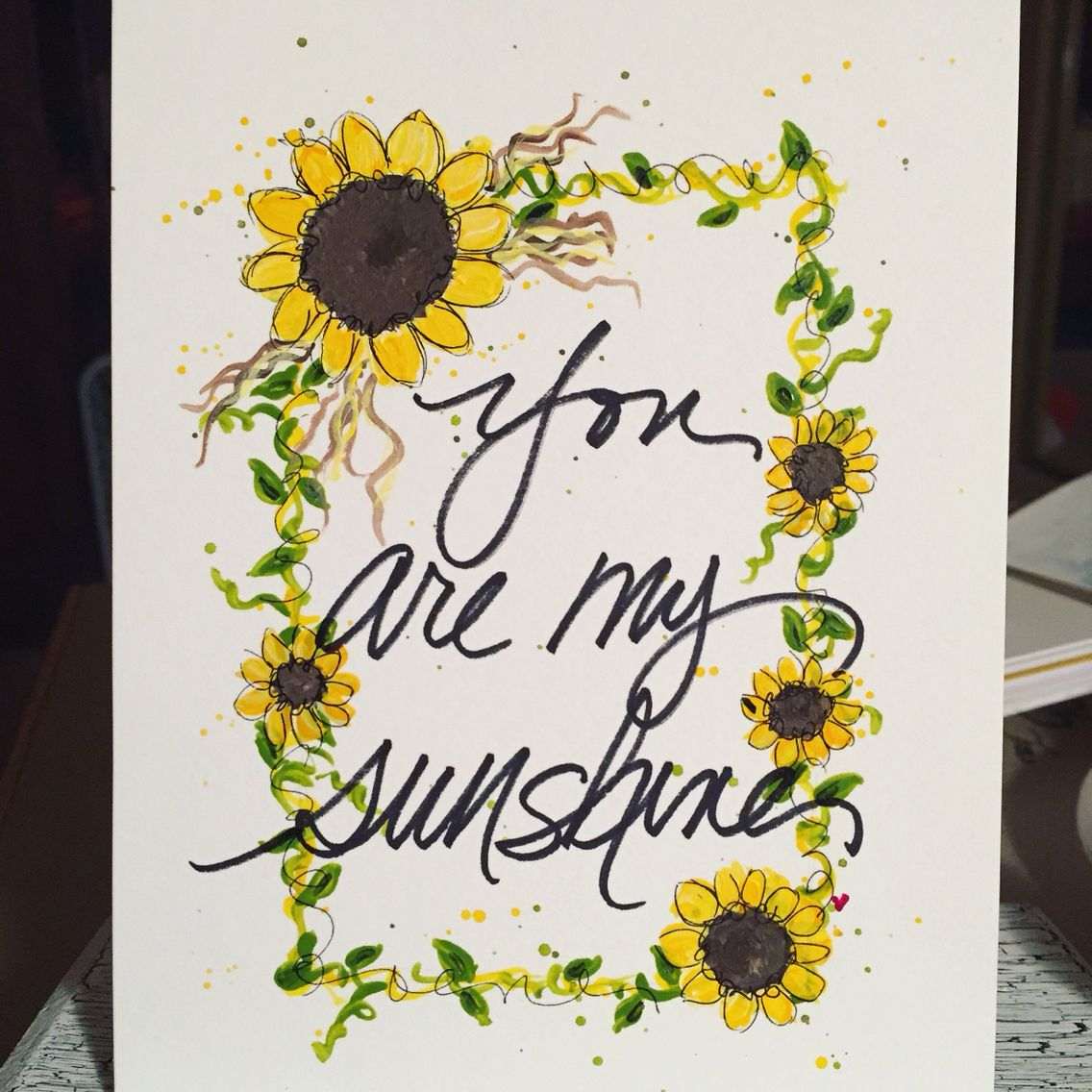 you are my sunshine frame 5x7 interested email diradirareevescom - You Are My Sunshine Frame