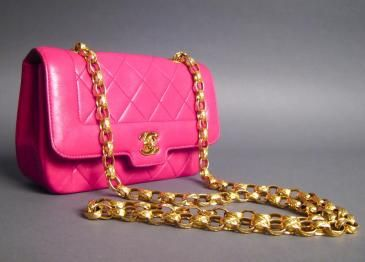 Chanel Mini Fuchsia Quilted Flap Bag