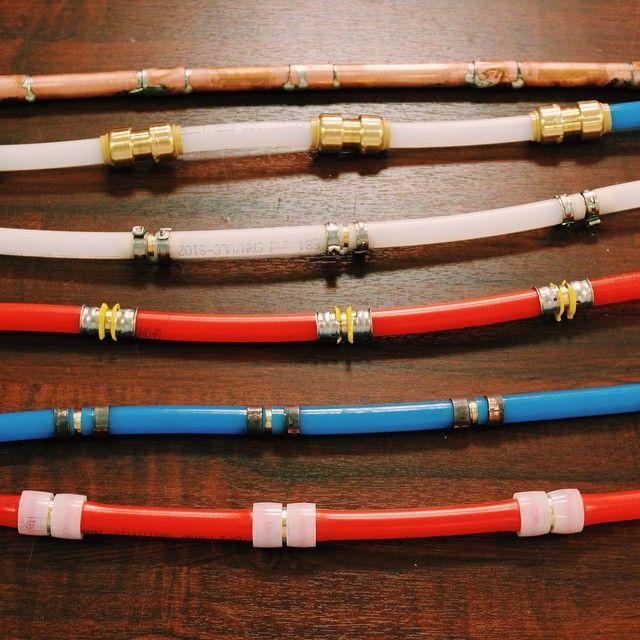 Plumbing pipe connections solder sharkbite clamp pex