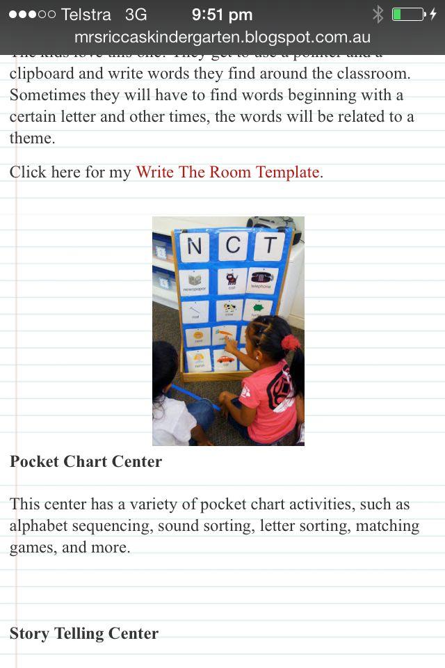Pocket Alphabet Chart