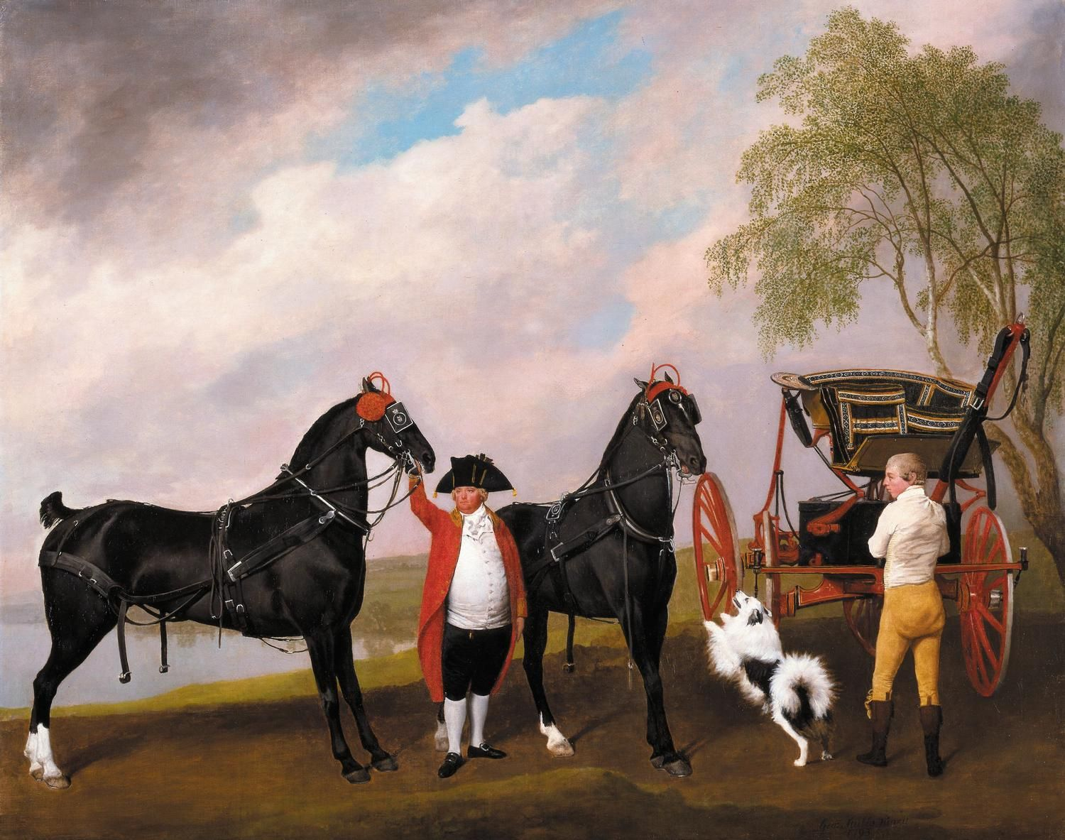 Pic of The Prince of Wales's Phaeton in The Royal Collection (painting by George Stubbs).