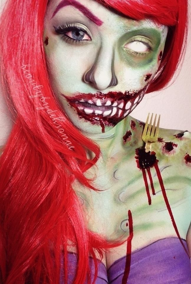 ariel zombie - Love the fork sticking out of her shoulder blade ...