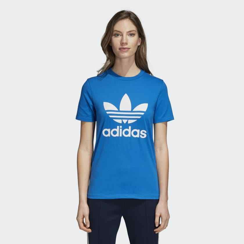 d45eadf4b82 New Adidas Womens Original Royal Blue White Logo Trefoil Tee T-Shirt Size  Small #adidas #TShirt #Summertime
