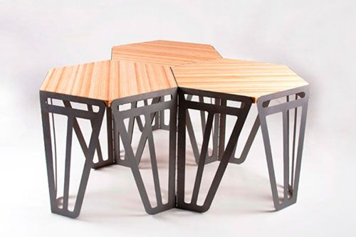 Hexagonal, Interlocking Tables