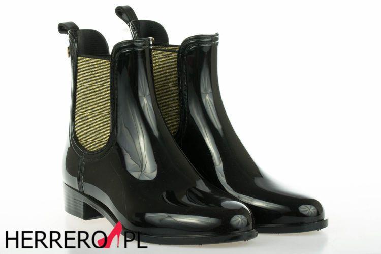 Kalosze Gioseppo 29056 Blk Gold Obuwie Damskie Kalosze Marki Gios Eppo Obuwie Gios Eppo Rain Boots Rubber Rain Boots Boots