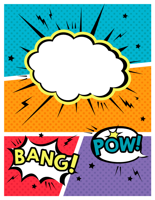 how to make a comic book cover page