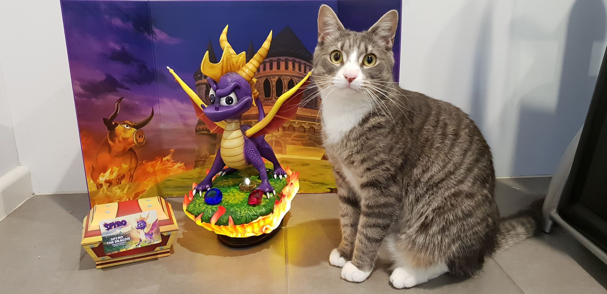 Spyro the Dragon and Drake the Cat - Photo credit: Aaron