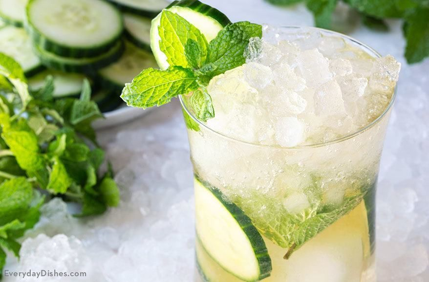 This green tea cucumber cocktail is light and refreshing. Plus you can't feel guilty about sipping a drink when it has green tea in it, right?
