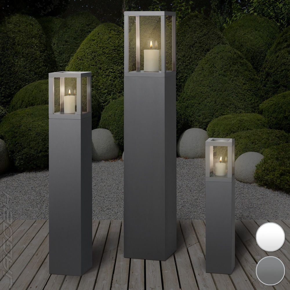 windlicht s ulen set dekos ule windlichts ule windlicht kerzenhalter gartenlampe ebay meins. Black Bedroom Furniture Sets. Home Design Ideas
