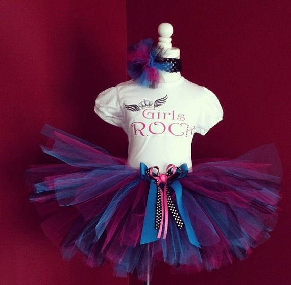 Hey, I found this really awesome Etsy listing at https://www.etsy.com/listing/186455198/girls-rock-birthday-tutu-set-any-size