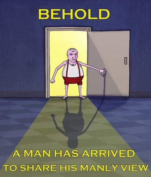 Image result for behold a man is here