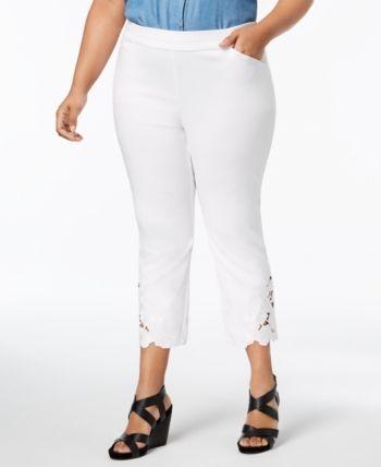 INC Black Womens Size 14W Plus Flat Front Skinny Leg Dress Pants