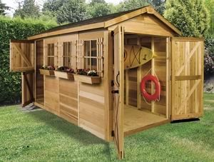 Cedarshed Boathouse 12x8 Shed Storage sheds House and Boat