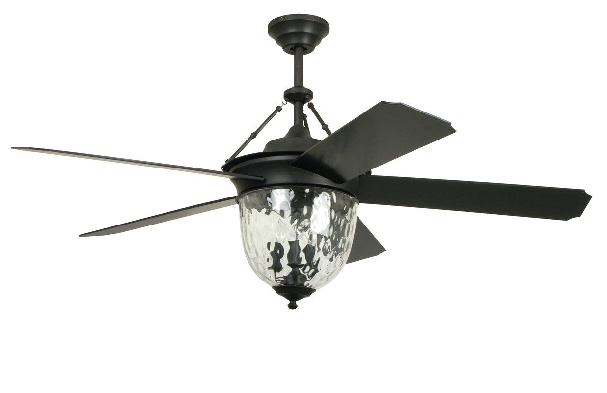 Craftmade 52 Cavalier 5 Blade Ceiling Fan With Wall Remote Reviews Wayfair