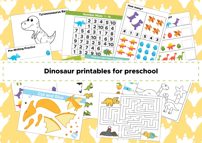 Dinosaur Preschool Activities Dinosaur Learning Pack