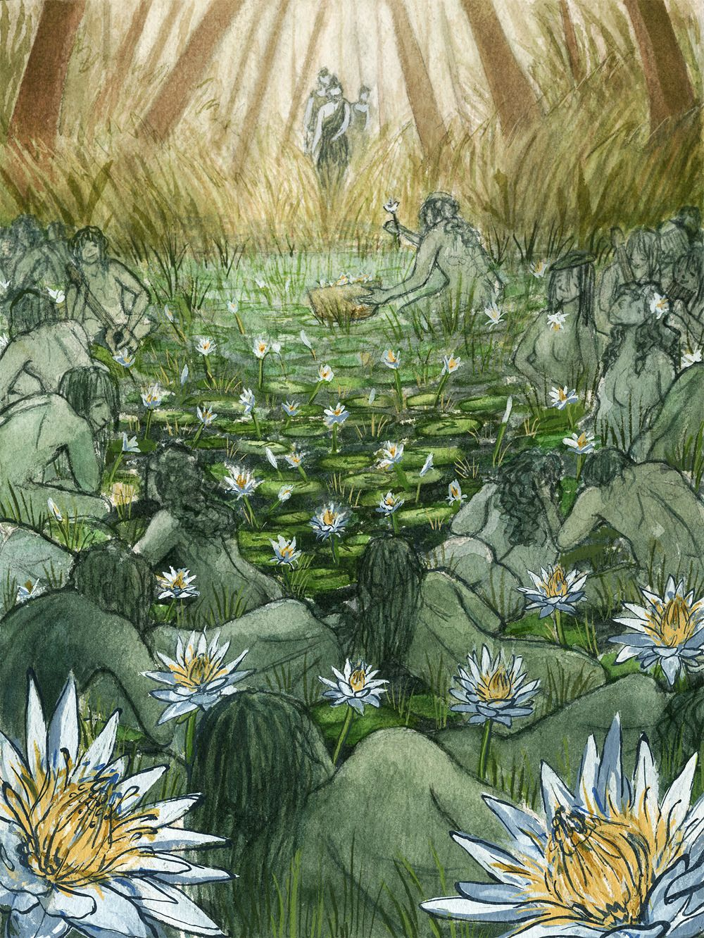 The odyssey lotus eaters flower drawing gardening flower and my men went on and presently met the lotus eaters nor did these mightylinksfo