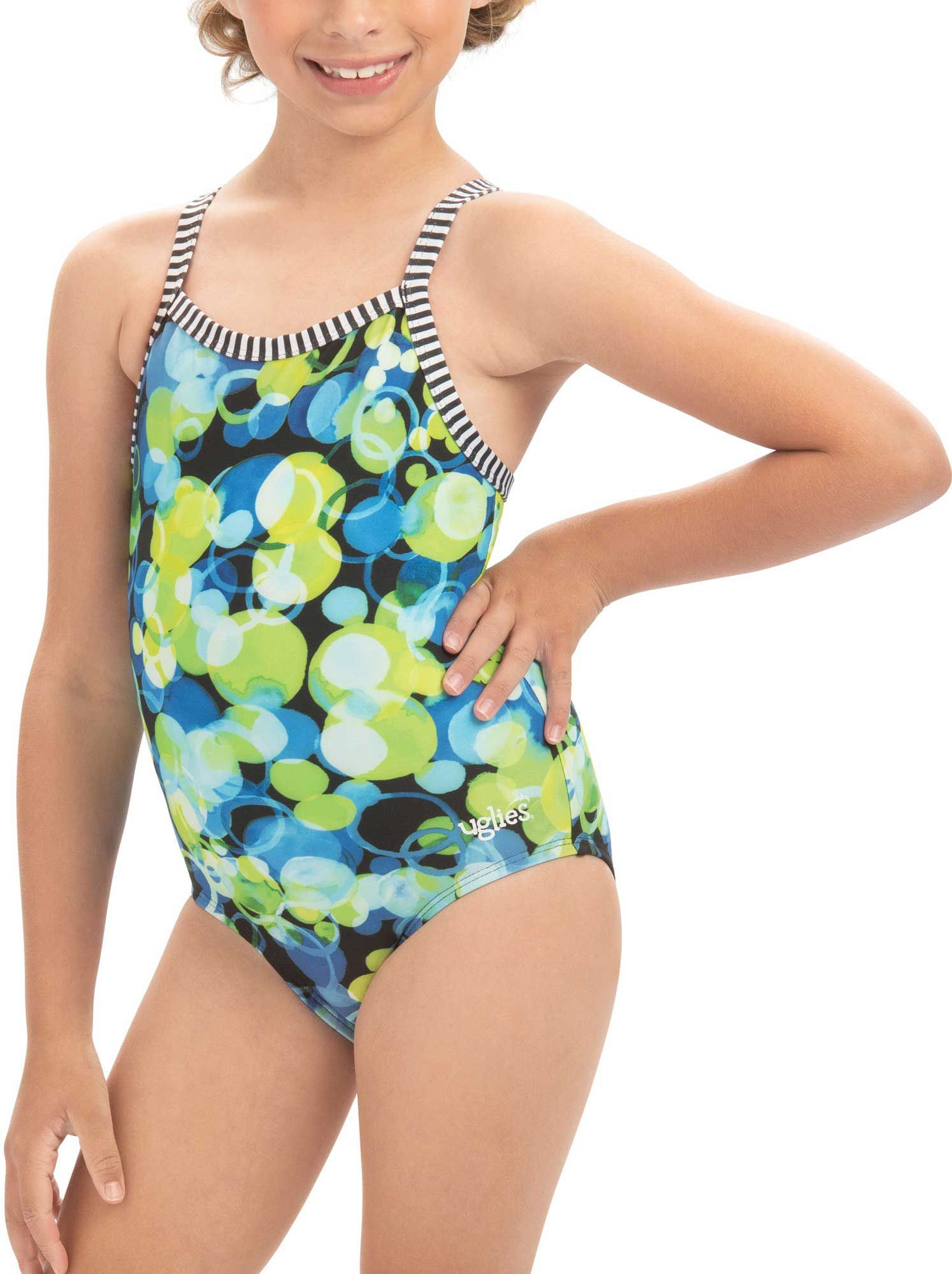3432cee797 Dolfin Girls' Uglies V-Back Pattern Swimsuit | Products | Swimsuit ...